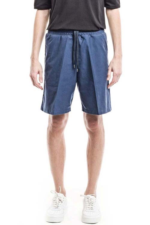 ALEXANDER - Classic Elastic Shorts - Heavy Oxford Blue