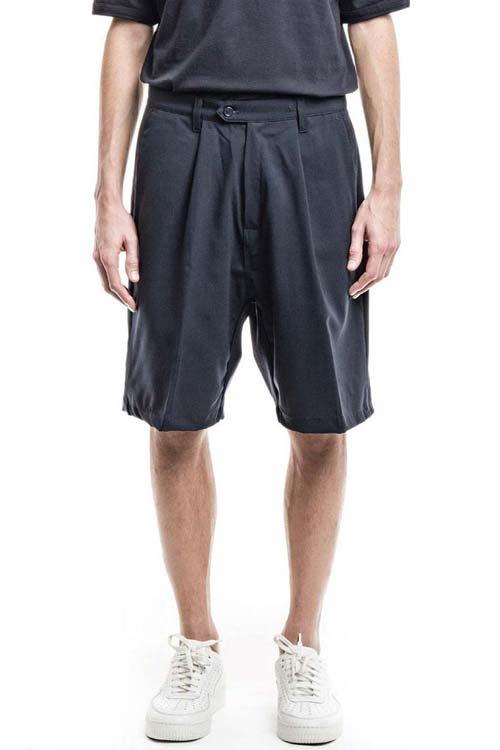MISTERO - Wide Shorts - Merino Stretch Navy