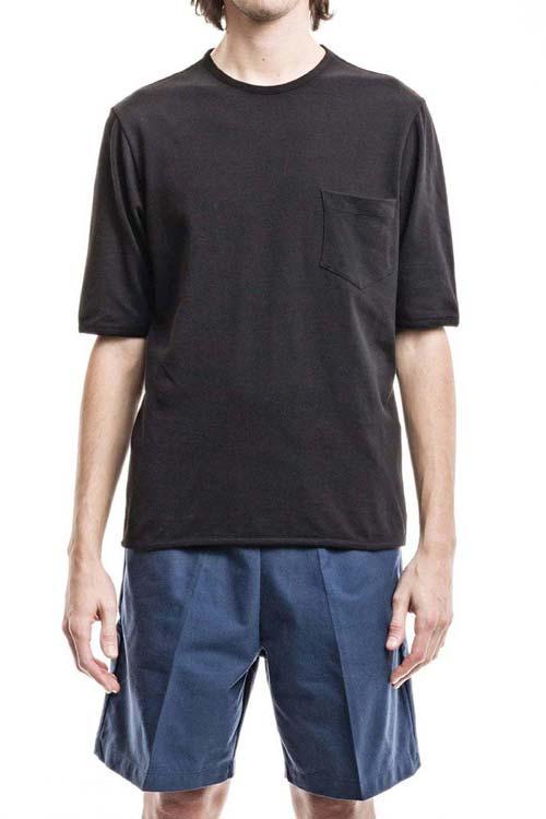 PEGASO - Classic Pocket T-Shirt - Piquet Black