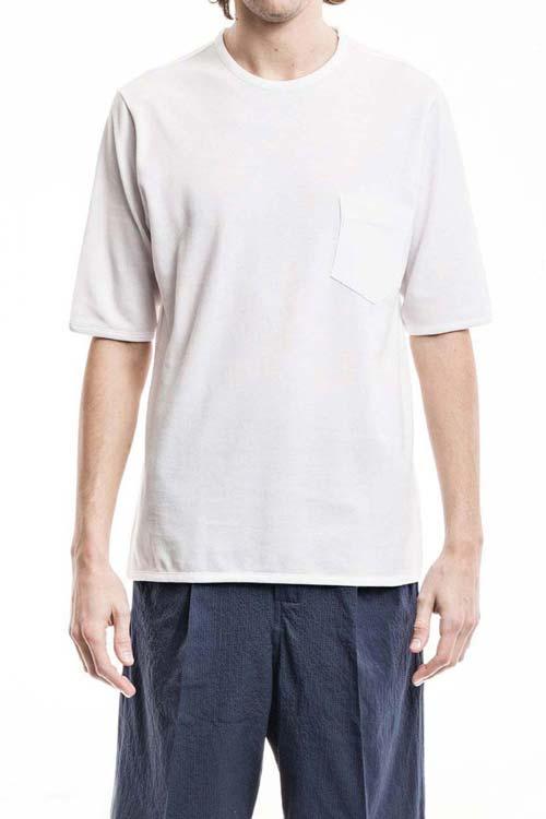 PEGASO - Classic Pocket T-Shirt - Piquet White