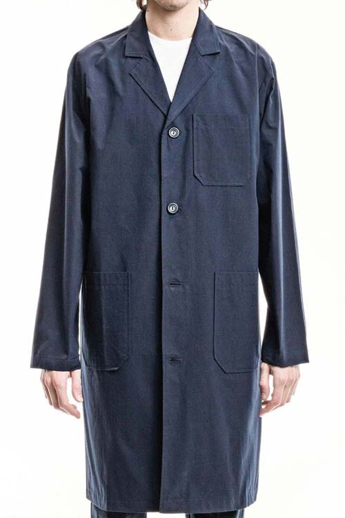 RIBOT - Wide Trench Coat - Canvas Navy