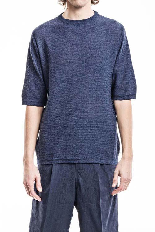 FEYSTONGAL - Knit T-Shirt - Blue
