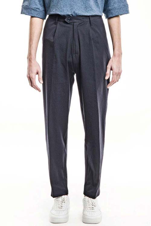 SEABISCUITS - Wide Trousers - Seersucker Navy