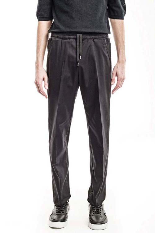 ECLIPSE - Classic Elastic Trousers - Twill Black