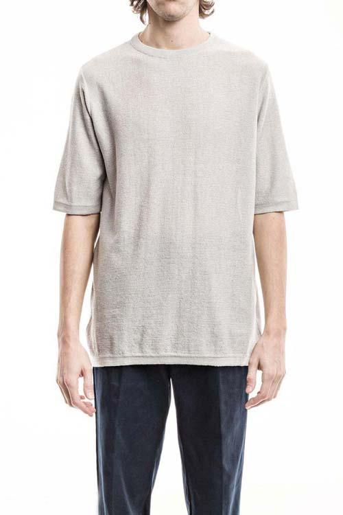 FEYSTONGAL - Knit T-Shirt - Gray