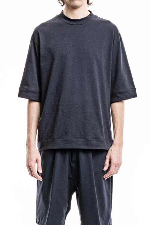 BUCEFALO - Wide One T-Shirt - Jersey Navy