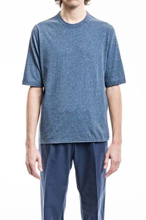 THE VEE - Classic T-Shirt - Jersey Melange Blue